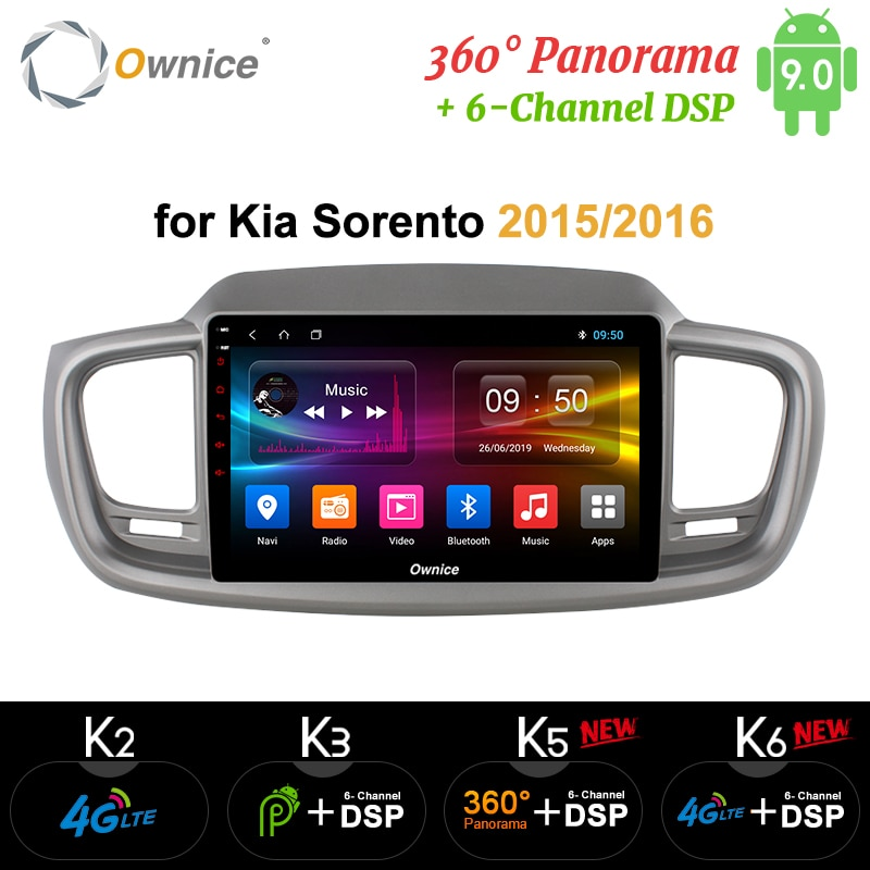 "Ownice Octa Core 10,1 ""Android 9,0 reproductor de DVD del coche k3 k5 k6 para Kia Sorento 2015 2016 4G LTE 360 Panorama DSP SPDIF Radio GPS"
