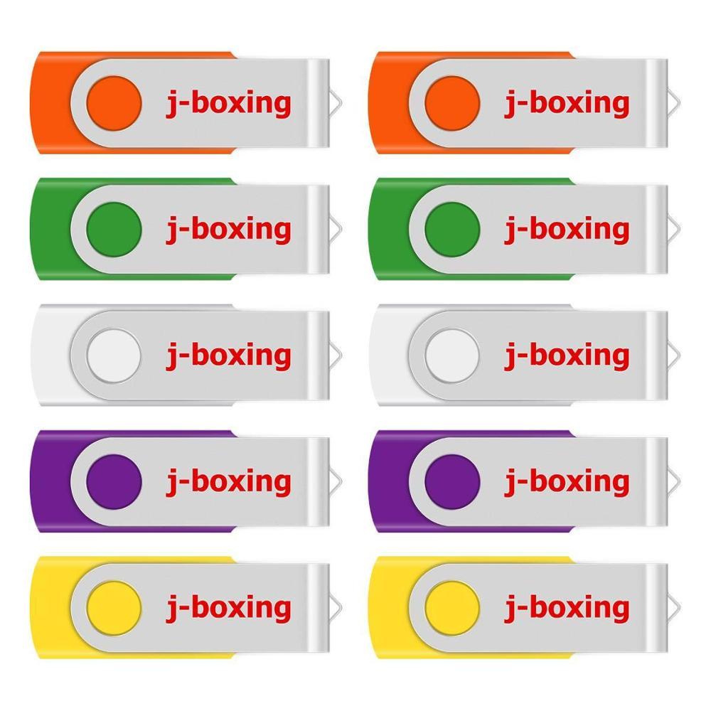 Multicolour 10PCS 4GB USB Flash Drive Metal Rotating Enough Memory Stick Swivel Pen Drives Thumb Pen for Computer Laptop Tablet