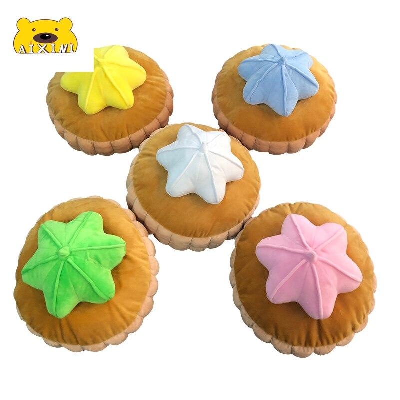 كعكة ديكور لطيف ثلاثية الأبعاد وسادة كعكة ألعاب من القطيفة دمية محشوة ناعمة للأطفال طفل هدية عيد ميلاد Plushie Kawaii أفخم الغذاء وسائد فخمة