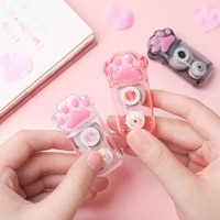 1pcs cat paw correction tape portable size transparent color body corrective tapes office school correcting tools a6532