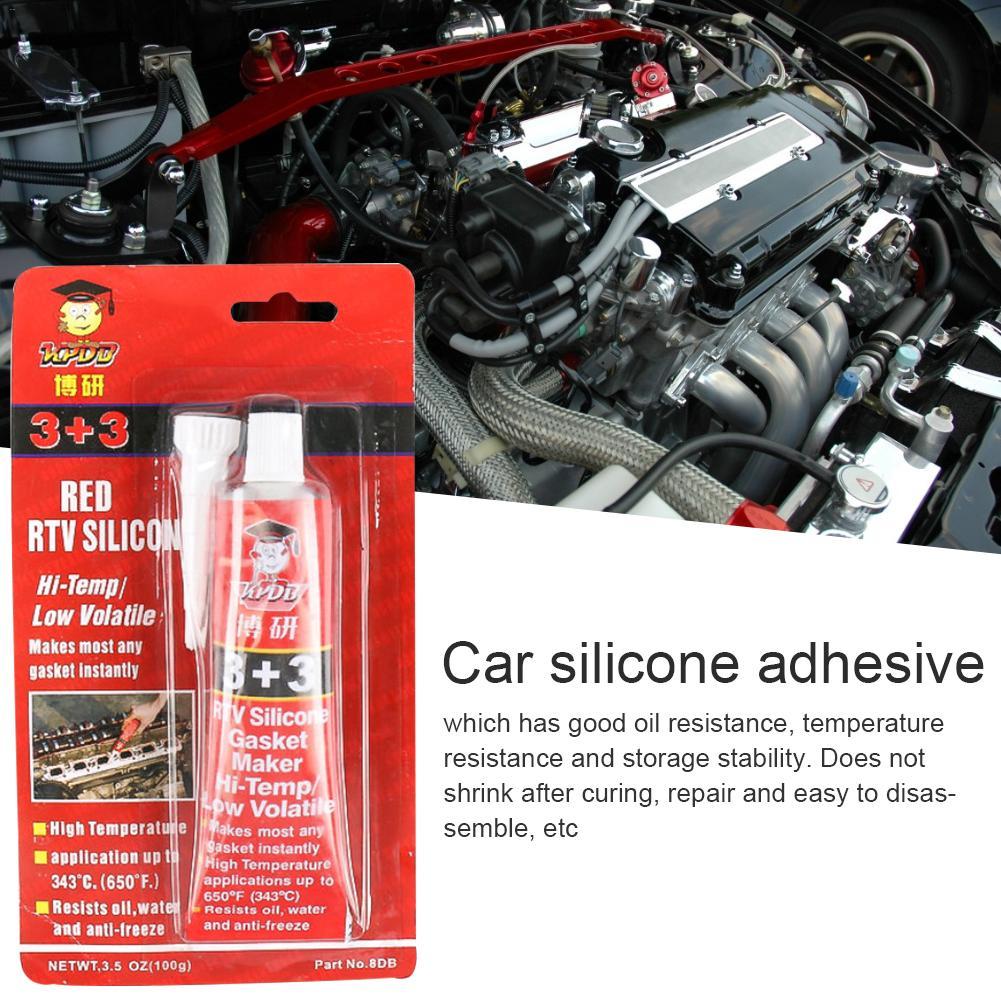Sellador Universal 3 + 3 goma de silicona de alta temperatura Junta automotriz no adhesiva sellador a prueba de agua resistente al aceite
