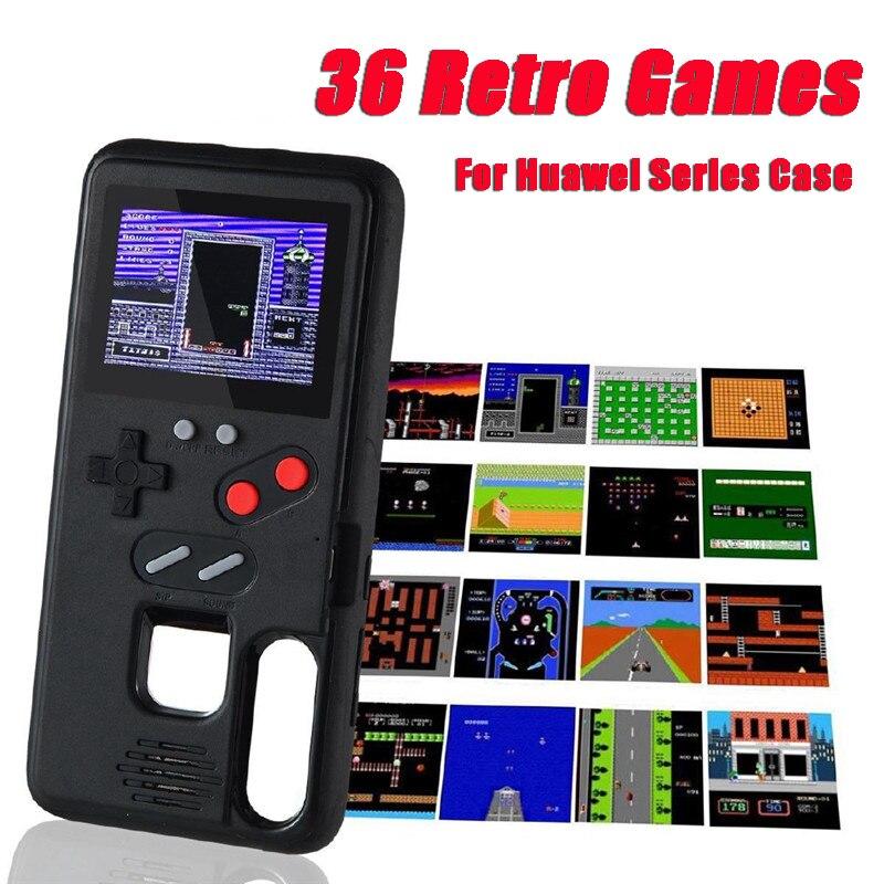 Чехол Gameboy для Huawei P40 P30 P20 Pro Lite Mate 20 30 Pro Nova5 Honor 9X, цветной экран, Классический чехол для игровой приставки Тетрис