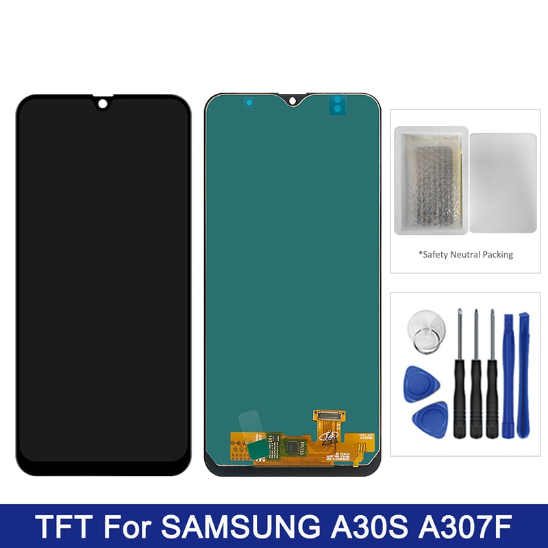 لسامسونج غالاكسي A30S LCD عرض تعمل باللمس محول الأرقام الجمعية TFT على SM A307F A307FD A 30S 307FD Sm-A307FD 100% اختبار
