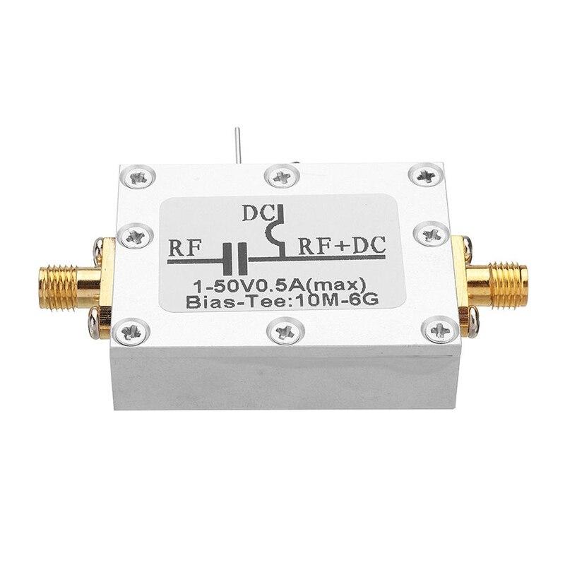 RF Biaser Bias Tee 10MHz-6GHz DC Blocker Coaxial Feed for HAM Radio RTL SDR LNA Low Noise Amplifier Bias Tee Drive