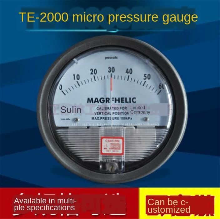 TE2000 مايكرو مقياس الضغط التبايني عالية الدقة الهواء مقياس الضغط التفاضلي مقياس الضغط الجزئي 0-100PA ~ 0-30KPA