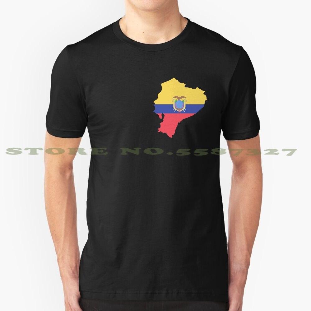 Camiseta blanca y negra de Ecuador para hombres y mujeres, Bandera de Material plano, Polo de sombra larga, hermoso mapa elegante, amarillo, azul, rojo, escudo de armas