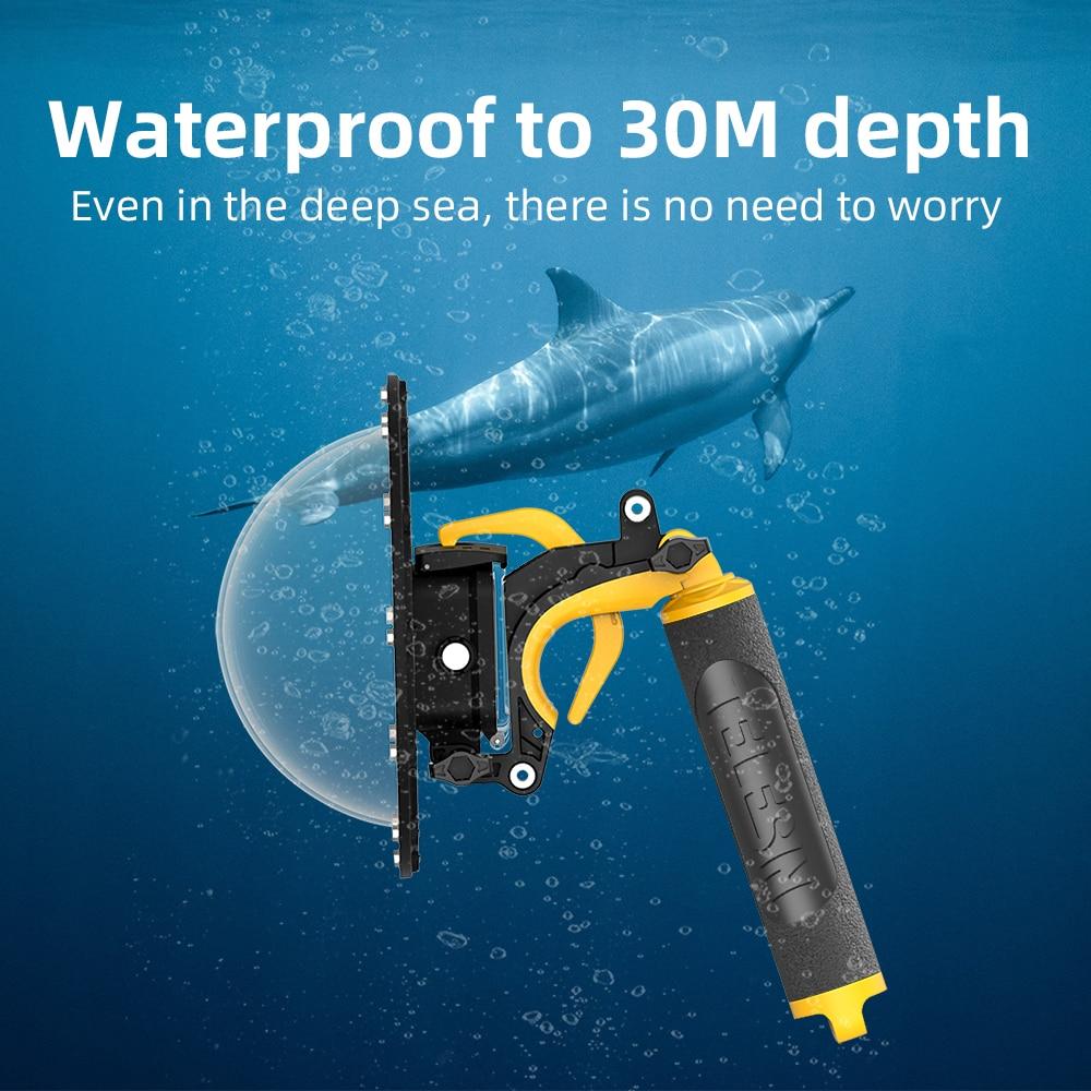 مقاوم للماء عدسة غطاء علبة ل Gopro بطل 9 8 7 كاميرا الغوص حالة قبة ميناء العائمة جبل عمل كاميرا أجزاء حماية