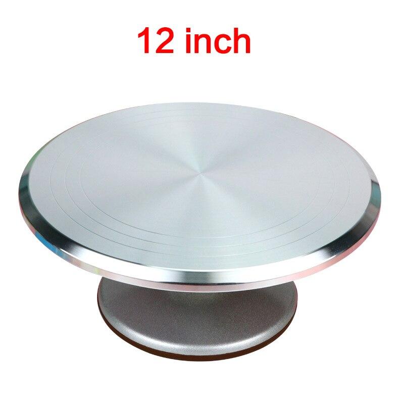 سبائك الألومنيوم 12 بوصة الدوار كعكة ملحقات للتزيين مجموعة الدورية كعكة حامل أداة معدنية الفولاذ المقاوم للصدأ المعجنات كعكة الوقوف