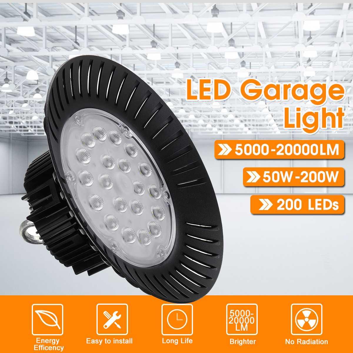 Led alta Bahía luz impermeable IP65 almacén taller garaje Industrial lámpara estadio mercado aeropuerto luz Led para garaje