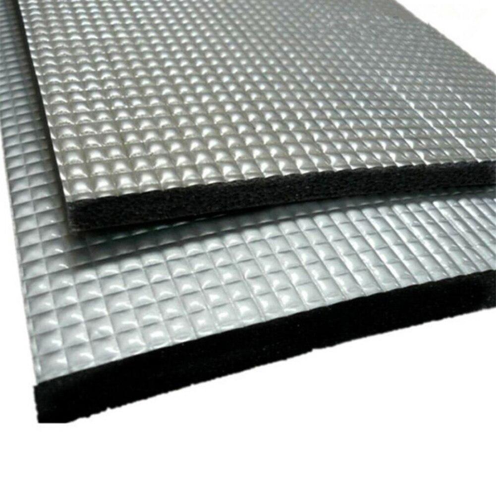 5 stücke 10mm Dicke Auto Sound Wärmedämmung Matte Tri-schicht Flammschutzmittel Aluminium Material Matte Ton Wärme isolierung Matte
