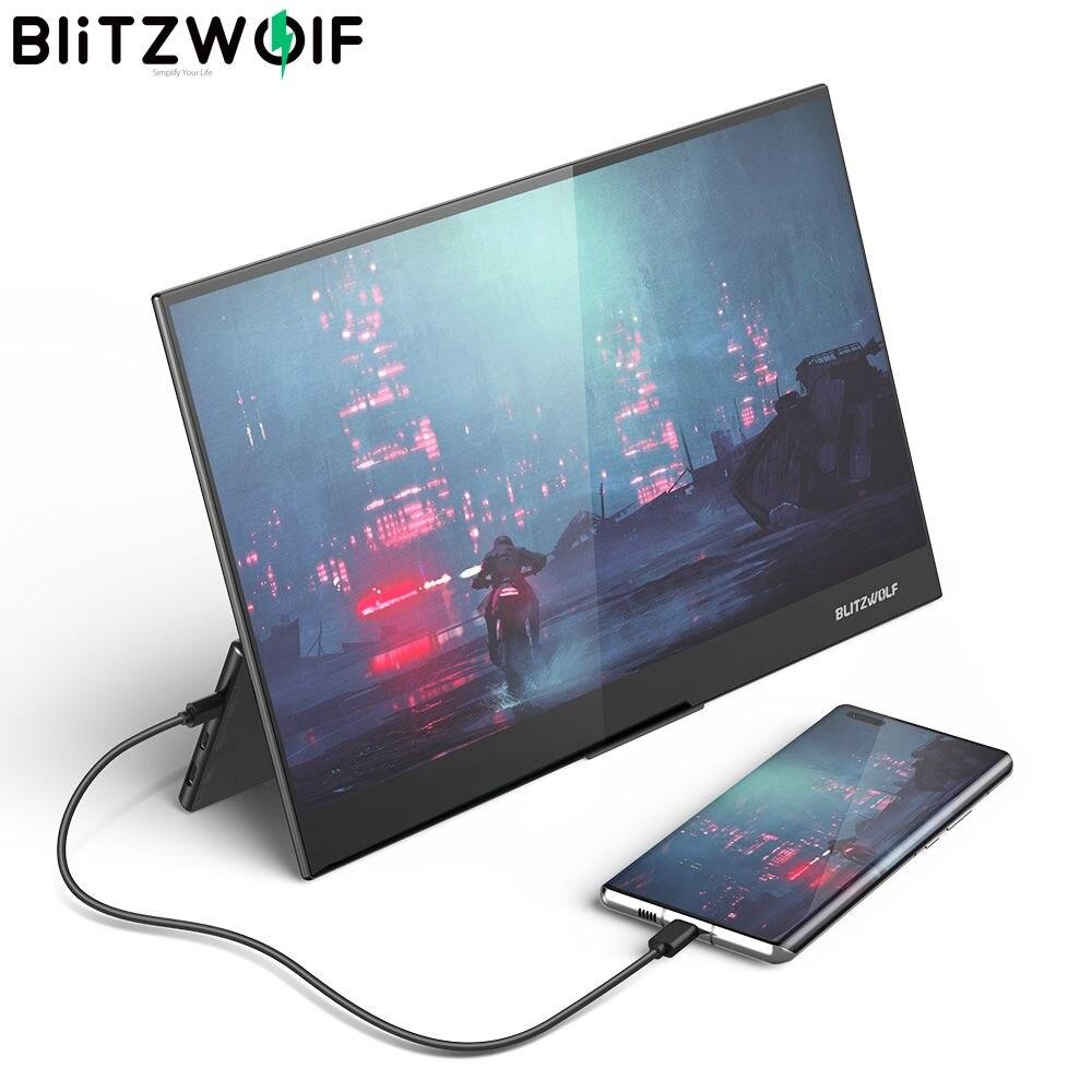 BlitzWolf BW-PCM7 15.6 بوصة ملموس FHD 1080P نوع C المحمولة الكمبيوتر رصد الألعاب شاشة عرض ل كمبيوتر لوحي (تابلت) وهاتف ذكي