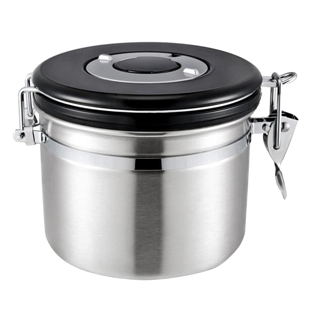 Coffee  Coffee Canister Airtight Stainless Steel Coffee Container Food Storage Jars with Adjustable Date Display, 800ml