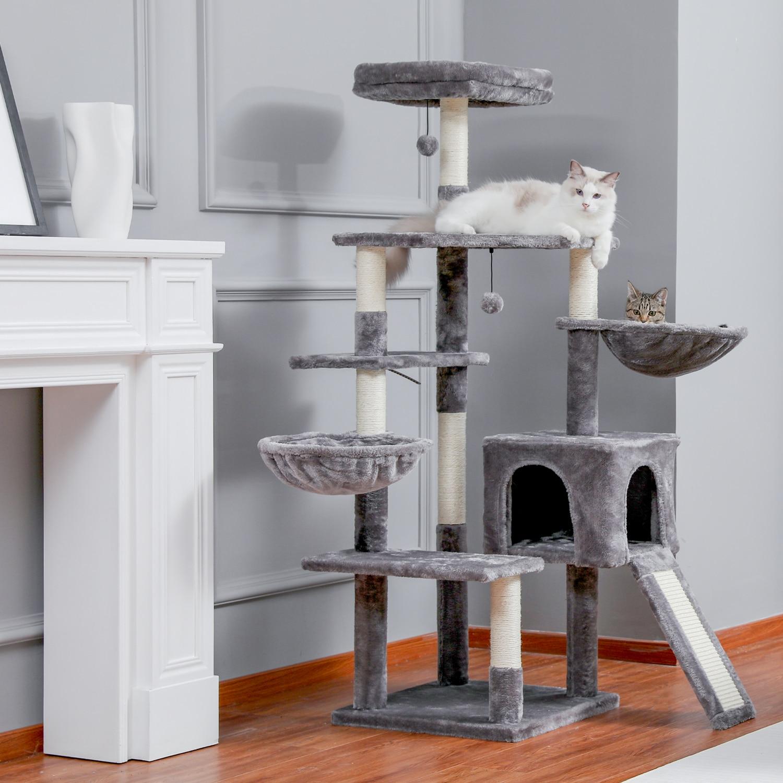التسليم المحلي القط القفز لعبة مع سلم خدش الخشب تسلق شجرة ل القط تسلق الإطار القط الأثاث عمود خدش للقطط