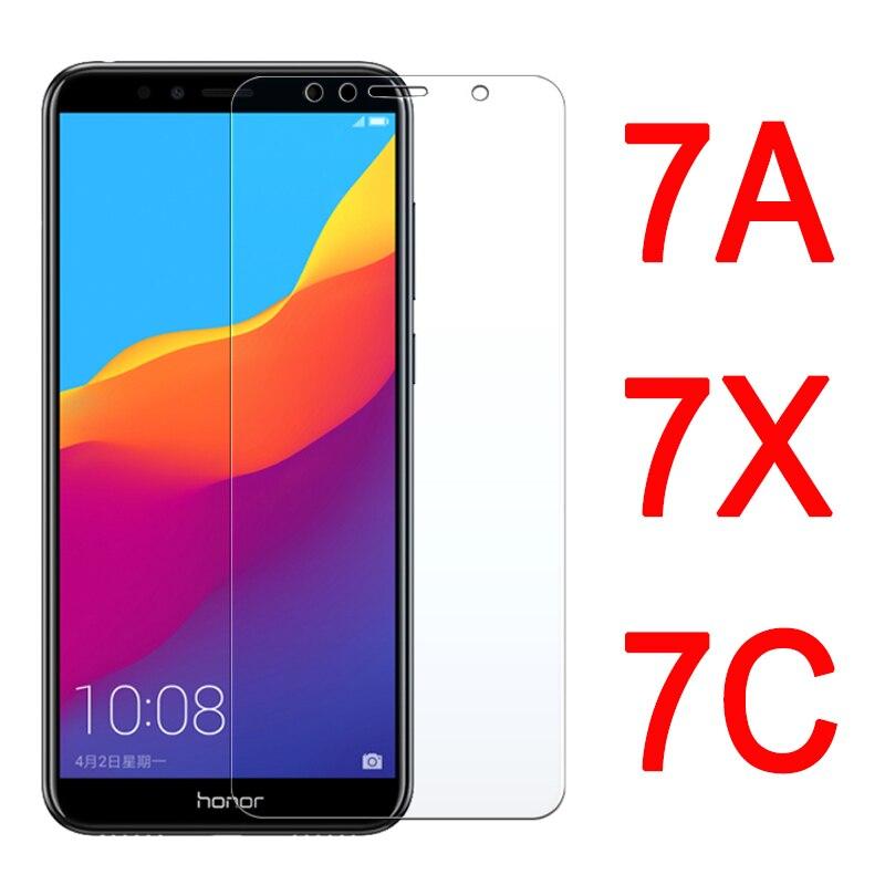 7 X vidrio Protector para Huawei Honor 7A 7C Pro Protector de pantalla en hwwei 7 A C A7 C7 X7 honor7A Honor7C armor Vidrio Templado