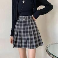 school girl pleated plaid mini skirts harajuku grunge autumn women skirts gothic streetwear high waist fashion short skirt