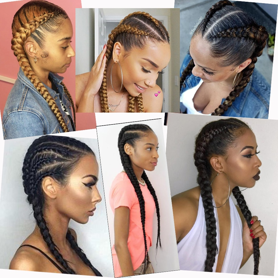 My-Lady 24Inch Braided Wigs Synthetic Lace Front Wig Wholesale Box Braided Lace Wigs African American Twist Wigs For Black Women enlarge