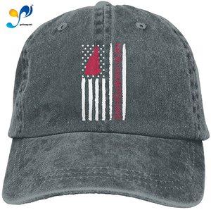 Sports Denim Cap Vintage New Hampshire State America Flag-1 Men Snapback Caps Adjustable Baseball Cap
