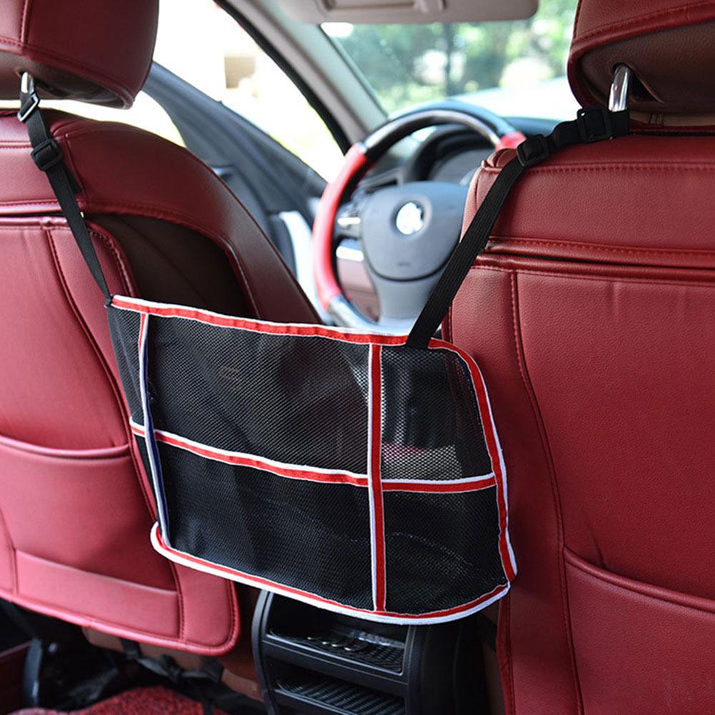 Organizador asiento trasero malla bolsa monedero titular conductor almacenamiento red bolsa NJ88