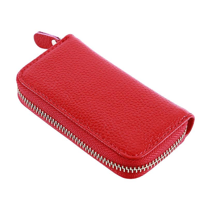 Fashion New Women Men's Cowhide Leather Zipper Purse Bag Car Key Wallets Card Holder Fashion Multifu