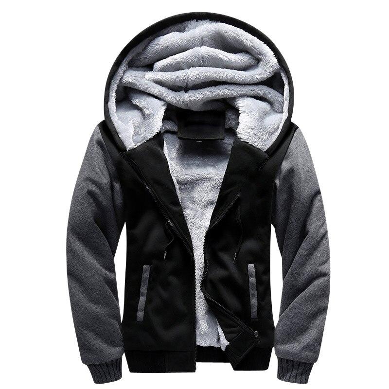 Shionfa vellón con retales de los hombres Sudadera con capucha gruesa de invierno sudaderas con capucha Casual moda Bomber piel chaquetas con cremallera abrigo 5xl