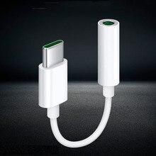 Type-c à 3.5mm Jack Audio Microphone adaptateur silencieux câble Audio pour OPPO R17 trouver X X2 Reno 3 Pro Realme 50 Xiaomi HUAWEI