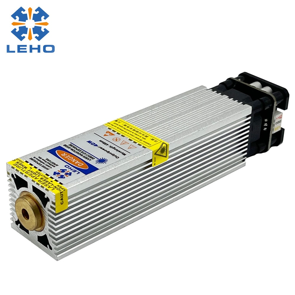 LEHO 40W Blue Laser Module Laser Head CNC Laser Engraving Head Suitable For CNC3018 6550 Laser Cutting Engraving Module