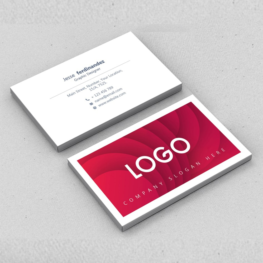 100PCS cheap customized full-color double-sided printing business card 300GMG paper