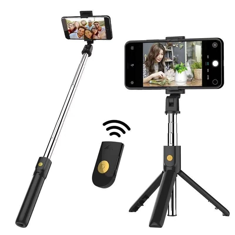 extendable self selfie stick handheld monopod bluetooth shutter remote controller clip holder for iphone android samsung htc ect 3 In 1 Wireless Bluetooth Foldable Handheld Monopod Shutter Remote Extendable Mini Tripod Selfie Stick for Iphone/Android Selfie