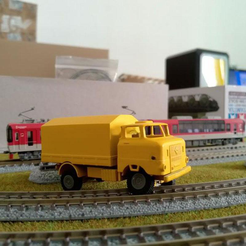 DasMikro Das87 Das87A02 HO escala 1/87 2WD chasis de camión DIY Kit versión estándar con cuerpo impreso 3D y Motor para coche RC