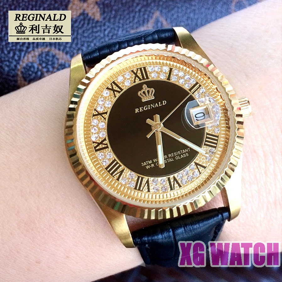 2020 Watches Reginal мужские кварцевые Fashion Full Gold Business Watch Luxury Mens Watches Top Brand Refined Steel Quartz Watch enlarge