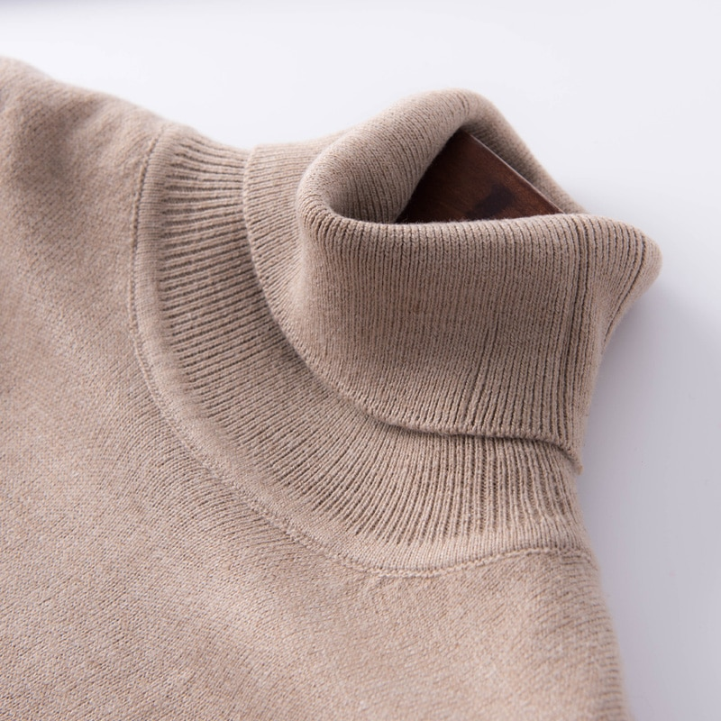 2019 autumn and winter cashmere turtleneck sweater women's head high collar sweater women's sweater solid color large size