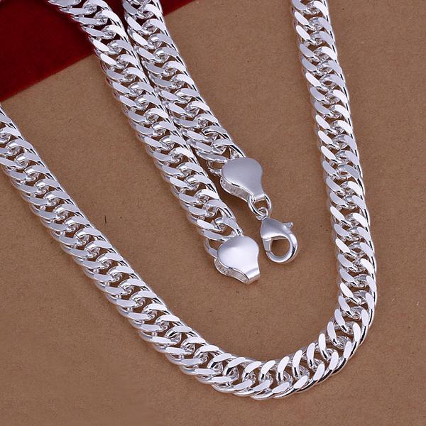 925 prata esterlina, 100% meninos colar fino masculino, jóias de moda, presente das senhoras, presente de natal