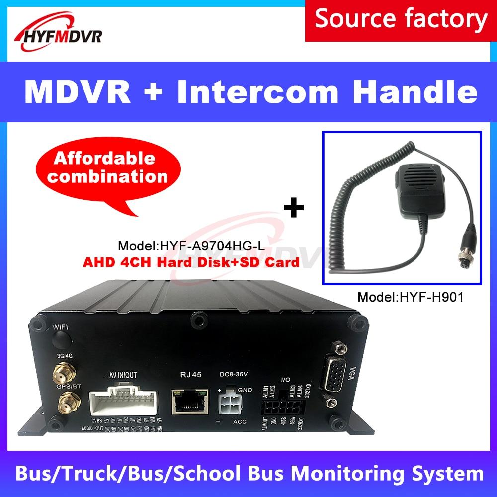 Hyfmdvr 4g gps mdvr remoto ptz gestão cmsv6 plataforma de monitoramento + interfone lidar com ônibus/táxi