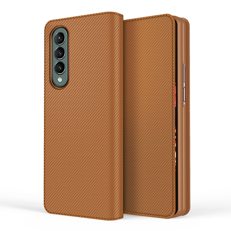 Split Folding Leather Wallet Case For Samsung Galaxy Z Fold 3 Cover Flip Stand Hard Protection Case