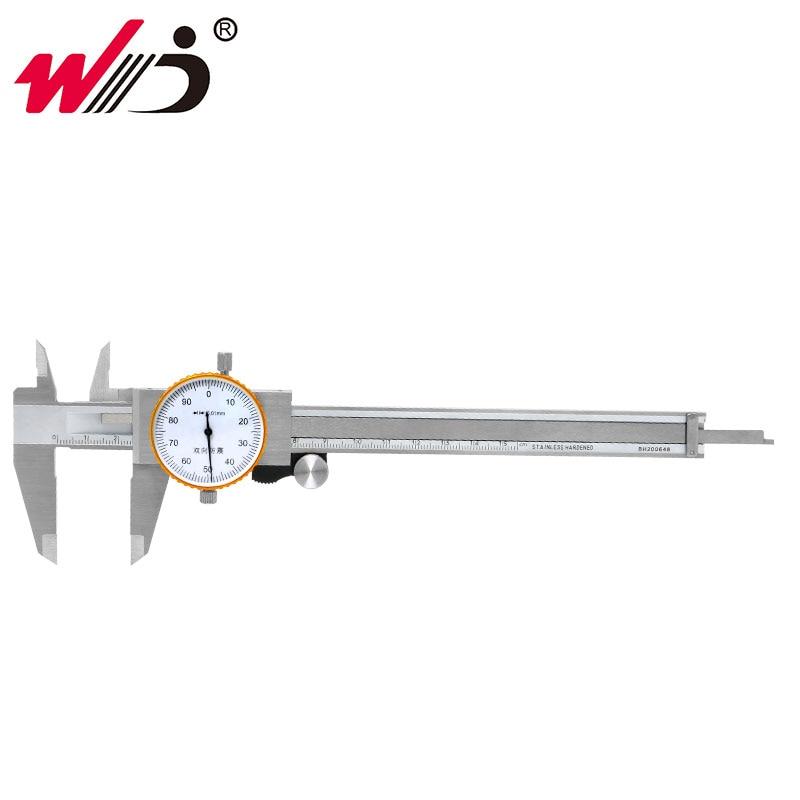 150 mm 0.01 mm Dial Vernier Caliper Metric Gauge Double Shock-proof Stainless Steel Precision Vernier Calipers Measuring Tools