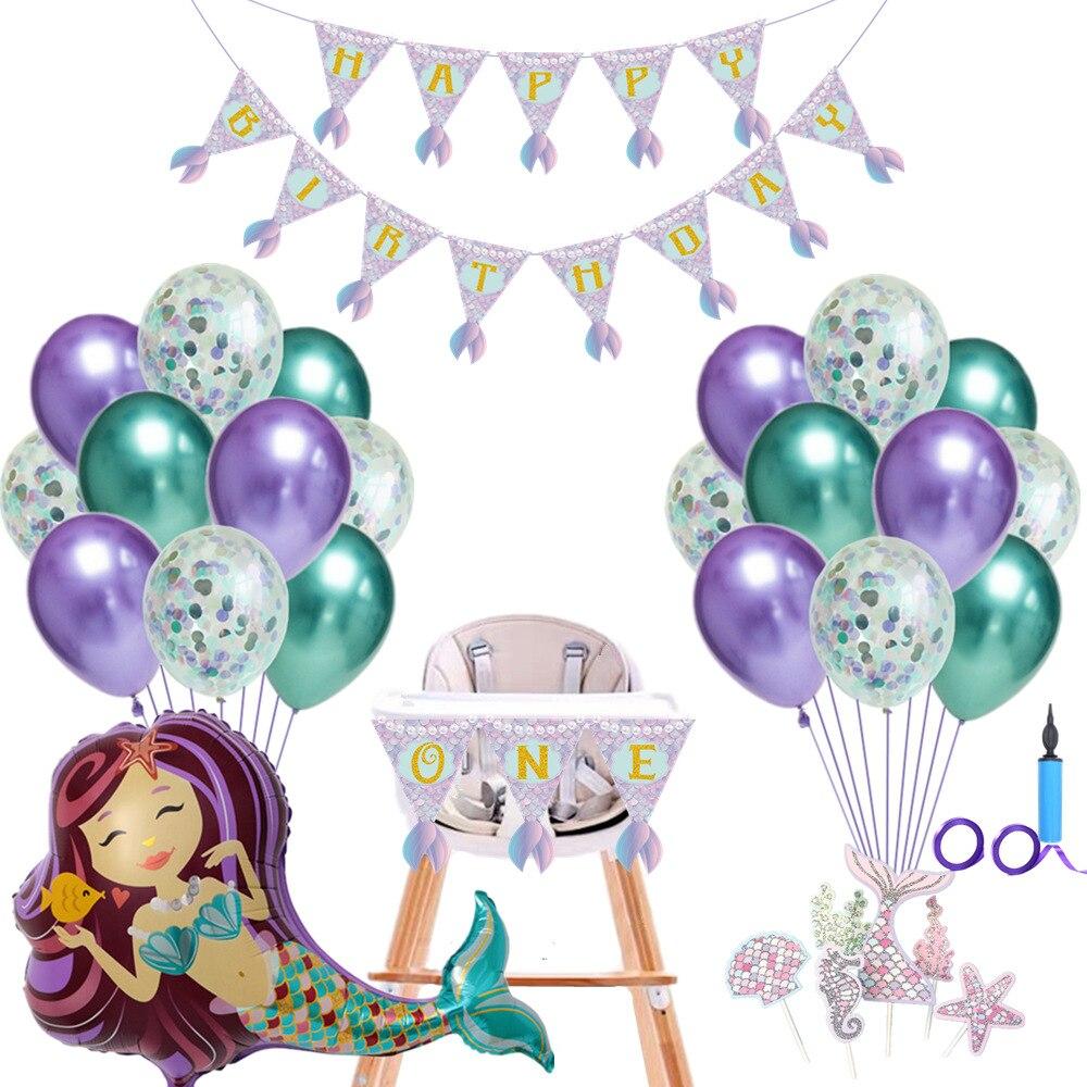 Sirena globos fiesta Decoracao Aniversario decoración de la habitación decoración Balony Na parte Versieringen Voor Feest Infantil