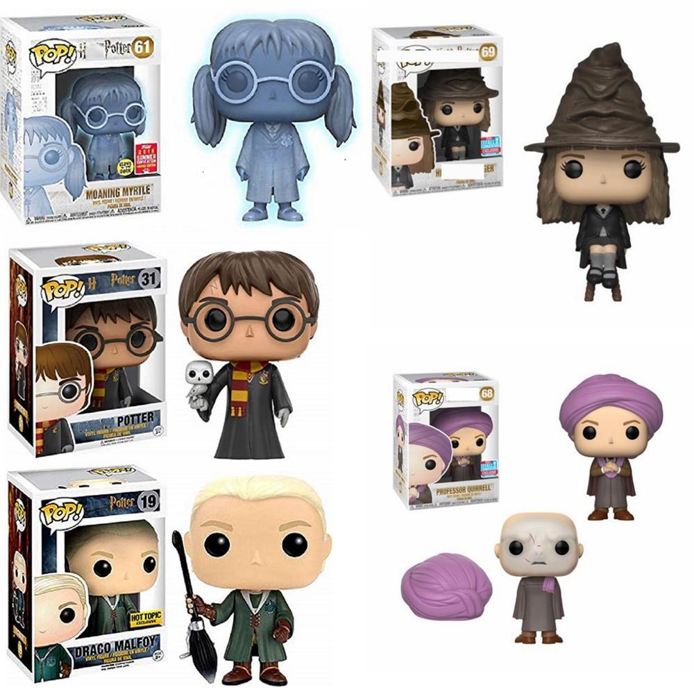 Funko POP Anime Harri Potter Severus Snape Luna Dobby RON WEASLEY profesor película figura de acción de juguete