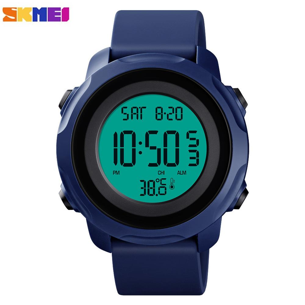 SKMEI Sport Watches Men Digital Wristwatches Man Clock Temperature Measurement 5Bar Waterproof Luminous Male Relogio Masculino