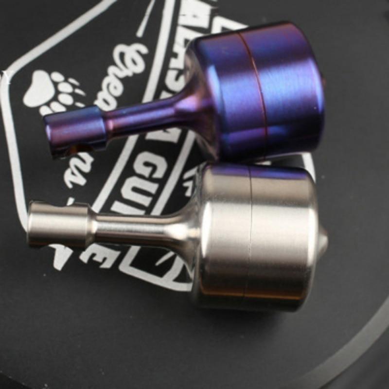 EDC Waterproof Pure Titanium Pill Box  Medicine Case Capsule Holder Container Gyroscope-Shaped Emergency Pill Tank `1