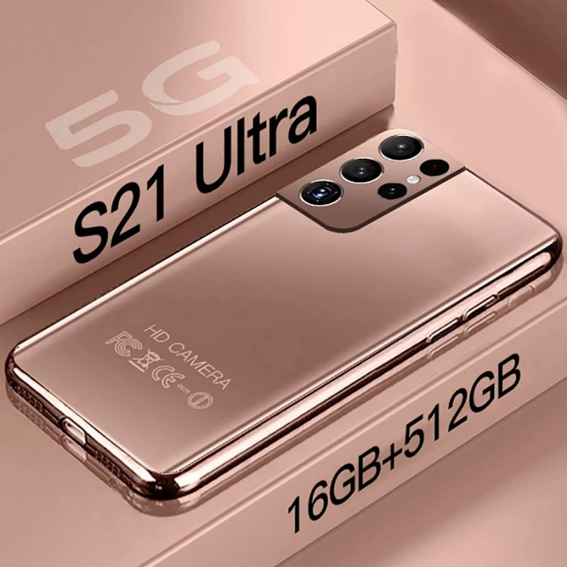 Global Version S21 Ultra Smartphone 7.3 HD Inch Android 10.0 Mobile Phones 16GB+512GB Cellphones Celular 5G Phone