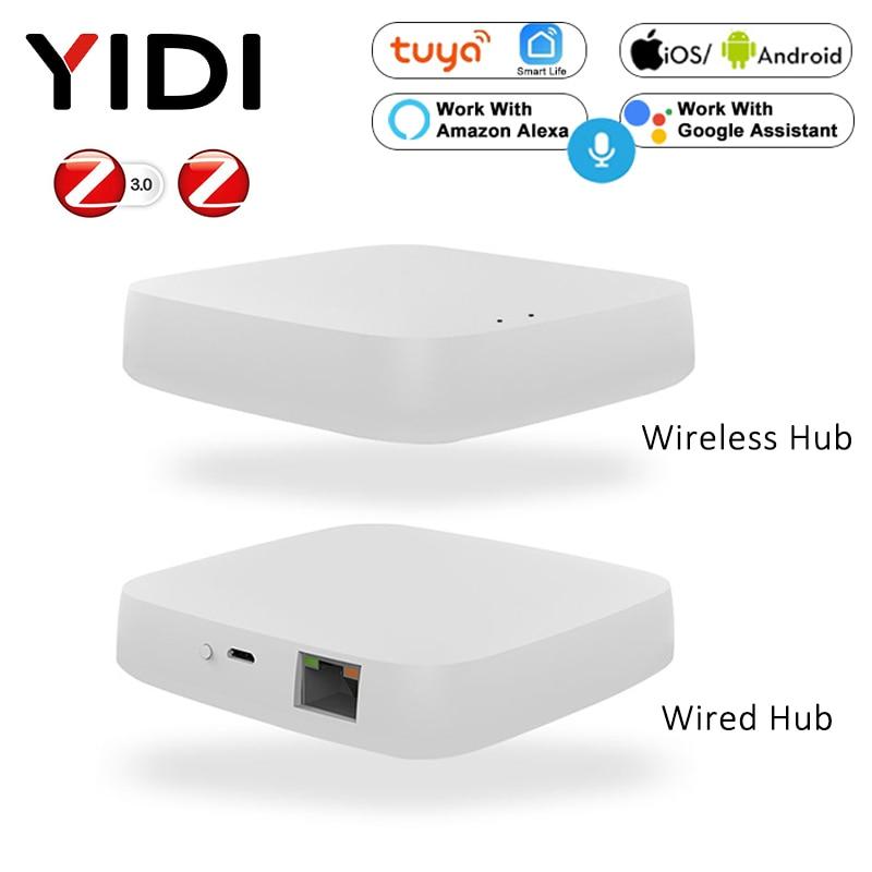 Tuya Smart Home Zigbee Gateway Hub ، جهاز تحكم عن بعد لاسلكي للمنزل المتصل ، واي فاي ، متوافق مع Alexa و Google Home