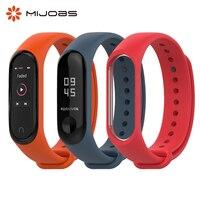 Mijobs Mi Band 4 Силиконовый ремешок для Xiaomi Mi Band 3 Смарт-браслет оригинальный браслет на ремешке Miband 4 3 Аксессуары для часов