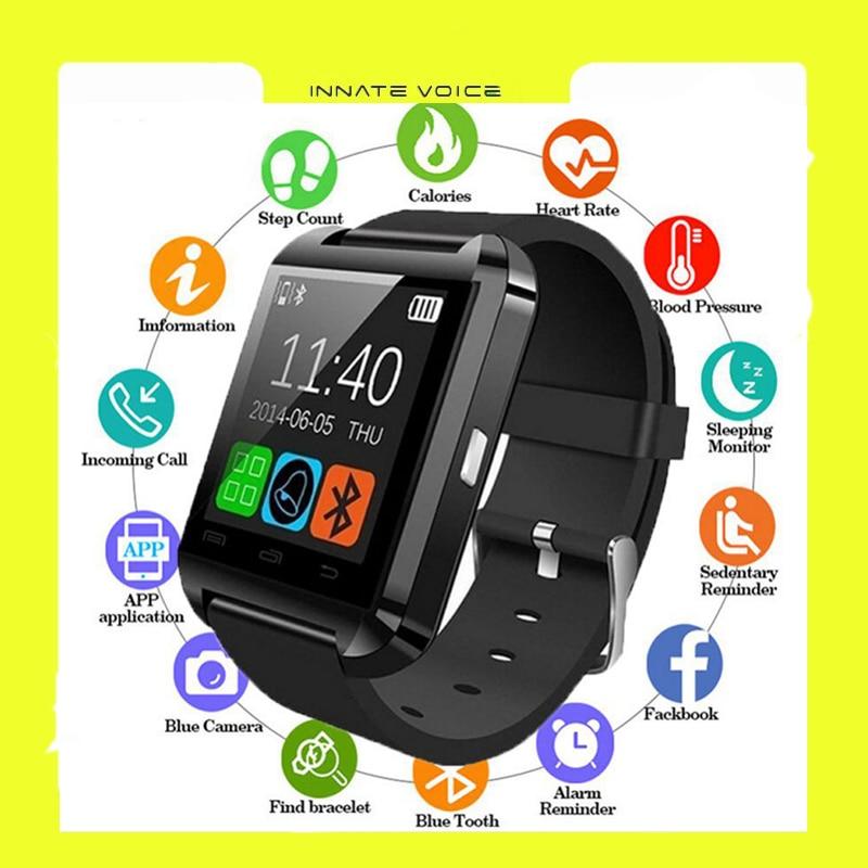 ZK20 U8 Smartwatch Bluetooth Wristwatch Sport Digital Watch Wearable Clock Electronic Device Smart Watch For IOS Android Phone
