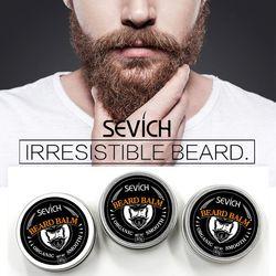 Sevich natural barba bálsamo condicionador profissional produtos barba cuidados 60g barba orgânico bigode cera para barba suave estilo