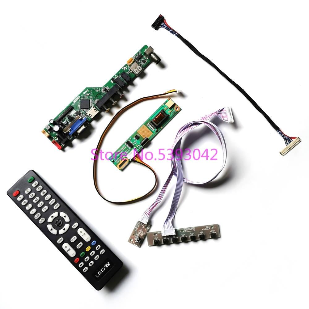 ل LP156WH1 (TL)(A1)/(TL)(A2)/(TL)(A3)/(TL)(D1) USB + VGA + AV TV تناظري عن بعد 30Pin LVDS 1CCFL 1366*768 طقم لوحة تحكم