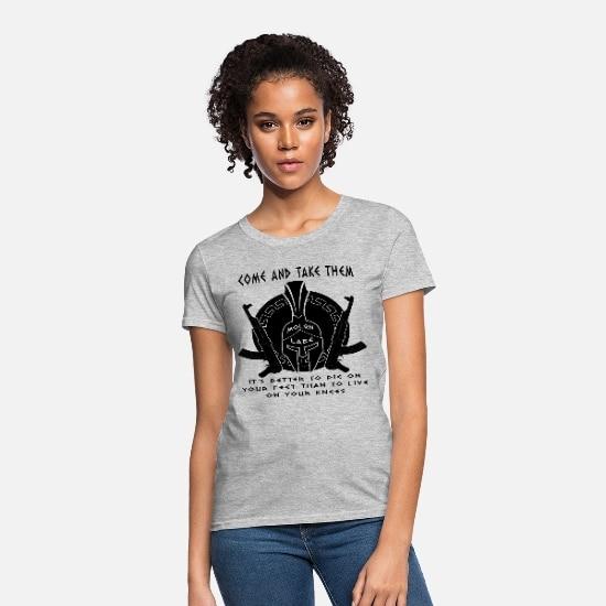 Come and Take Them Molon Labe Sparta Helmet Women's T-Shirt