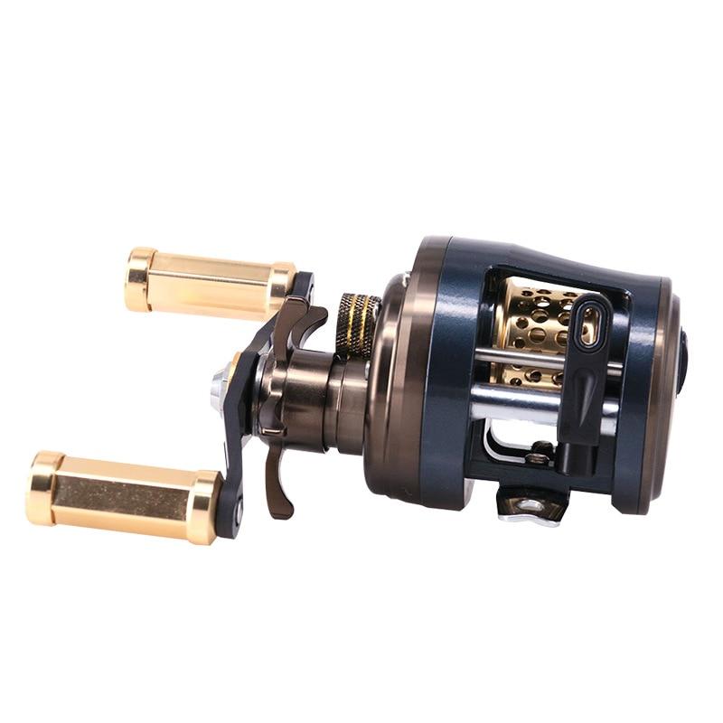DEUKIO JKS BAITCASTING  Wheel 11+1 Axle Lei Qiang Wheel Lu Ya Wheel Water Drop Wheel Micro-object Fishing Black Fishing Reel enlarge