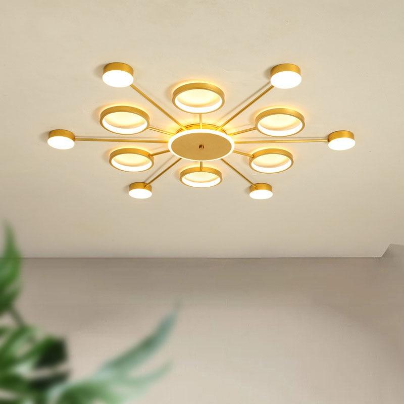 Nueva lámpara LED de techo para dormitorio, candelabro moderno de habitación, lámpara LED redonda cuadrada para sala de estar, lámpara LED para villa, lámpara de hotel, venta directa de fábrica