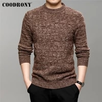 coodrony brand autumn winter new arrival streetwear o neck cotton wool pullover men soft knitted thick warm sweater jersey c1341