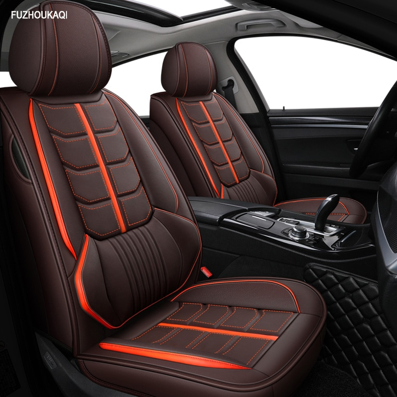 Cubiertas delanteras + traseras de cuero para audi a6 4f a4 a3 a5 q3 q5 q2 Lada XRAY mitsubishi pajero skoda Octavia nissan leaf car